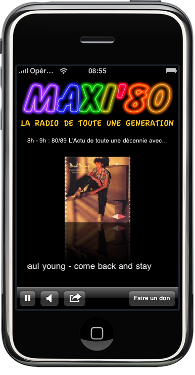 maxi 80 webradio sur iphone