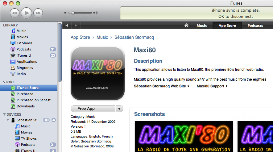 Maxi 80 webradio sur ton iphone !